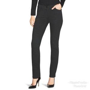 WH BM Charcoal Gray Knit Slim Leg Ponte Pants 10R